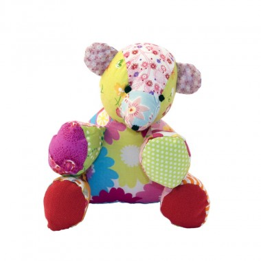 Stuffed toy Hugo the bear in cotton