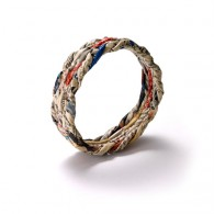 Bracelet made of recycled newspapers- size M- small width