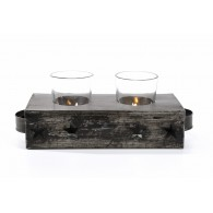 Tealight holder for 2 candles, large stars