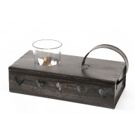 Tealight holder for 2 candles, heart