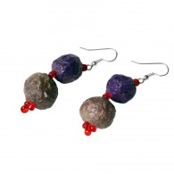 Recycled paper Earrings - Pulp 2 beads