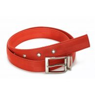 John belt in recycled seatbelt red