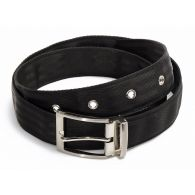 Philippe belt in recycled seatbelt black