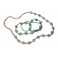 Recycled paper Necklace - 15 beads 70cm
