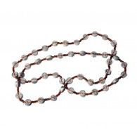 Recycled paper Necklace - 41 beads 95cm