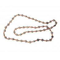 Recycled paper Necklace - 48 beads 110cm