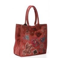 Large bag Sophie in recycled cotton red