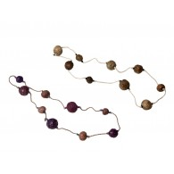 Recycled paper Necklace - Pulp 9 beads