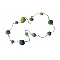Recycled paper Necklace - Pulp 11 beads