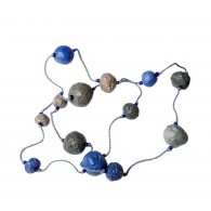 Recycled paper Necklace - Pulp 13 beads