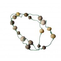 Recycled paper Necklace - Pulp 15 beads