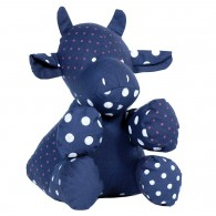 Organic cotton Stuffed toy : cow, Jeanne