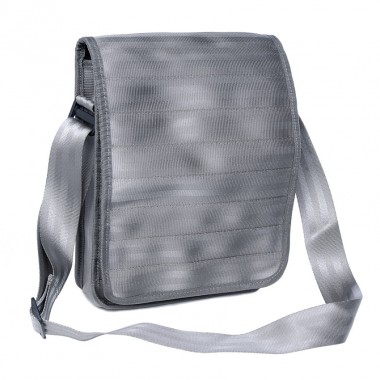 Pierre light grey bag in recycled seatbelt
