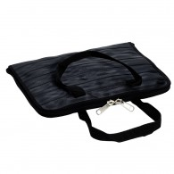Laptop bag made of seat belt - Size L (Dark Grey)