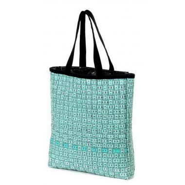 Couturire large green bag in measuring tape diverted
