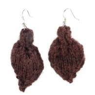 Leaf earrings - Brown
