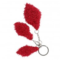 Key holder - Leaf R (recycled) - Red