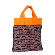 Anjali Bag - Orange and light brown