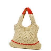 Devi Bag - Natural and Red