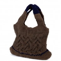 Devi Bag - Brown and Navy Blue
