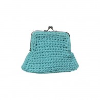 Purse Lata (cotton) - Turquoise blue