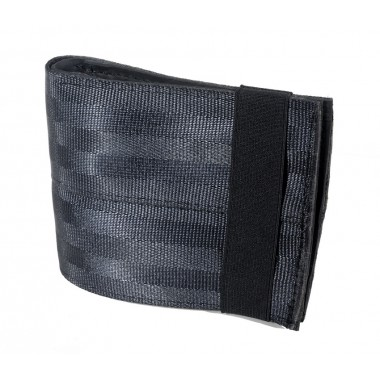Aamir dark grey wallet card-holder in recycled inner tube and seatbelt