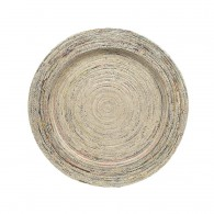 Round plate (35cm) made of recycled newspapers