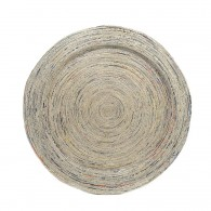 Big Round plate (45cm) made of recycled newspapers