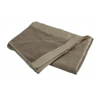 Cotton and Silk Plaid 210 x 290 - Dark Beige