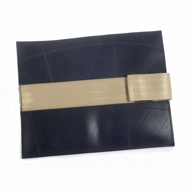 Ornella Ipad cover in recycled inner tube and recycled seatbelt