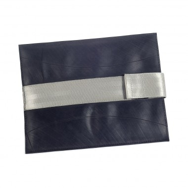 Grisette Ipad cover in recycled inner tube and recycled seatbelt