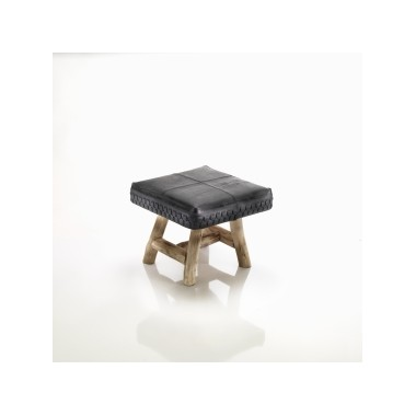 Bill stool in recycled inner tube, tire and eucalyptus wood