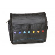 Theo toilet bag in recycled inner tube and seatbelt