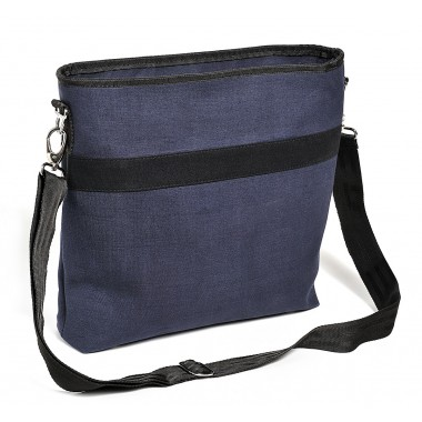 Glenn large shoulder bag in recycled canvas of parachute bag