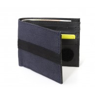 Julien wallet card holder in recycled canvas of parachute bag