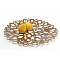 Ellipse metal wall ornament tray