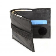 Jerry wallet card holder , inner tube and bicycle tire