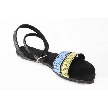 Natalia women sandals made of recycled parachute bag canvas and car tyre