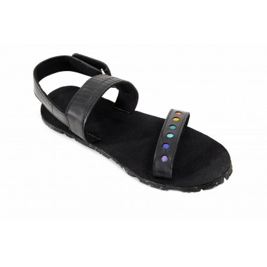 Pablo men sandals made of recycled parachute bag canvas, inner tube and car tyre