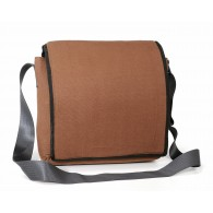 Messenger bag in recycled parachute bag canvas