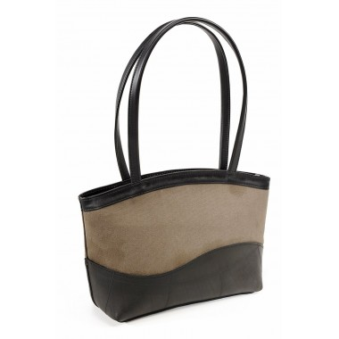 Florence handbag in recycled parachute bag canvas and inner tube