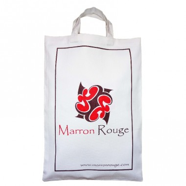 Sac en coton Blanc Marron Rouge