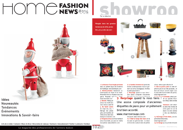 HOME FASHION NEWS - DECEMBRE 2014- BLOG